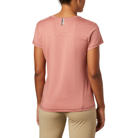 Columbia Bryce Camiseta Manga Corta Mujer, dark coral heather
